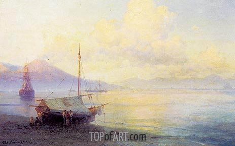 The Neapolitan Gulf in the Early Morning, 1893 | Aivazovsky | Painting Reproduction