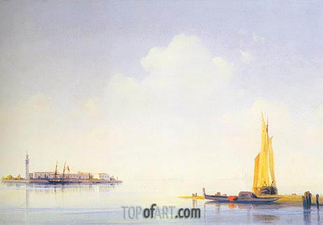 The Venetian Lagoon, 1844 | Aivazovsky | Painting Reproduction