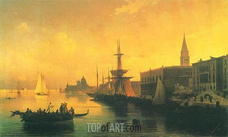 Venice, 1842 | Aivazovsky | Painting Reproduction