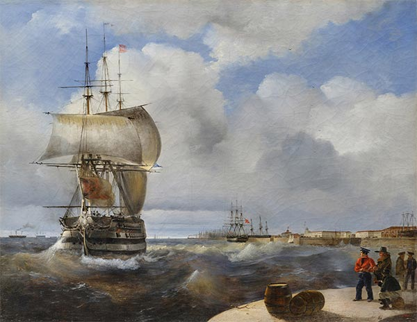 The Great Roads at Kronstadt, 1836 | Aivazovsky | Painting Reproduction