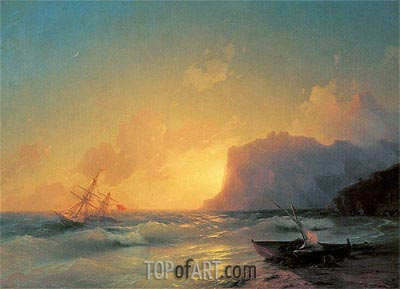 The Sea at Koktebel, 1853 | Aivazovsky| Gemälde Reproduktion