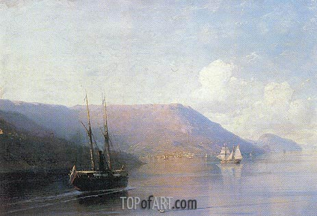 The Crimean Coast, 1886 | Aivazovsky | Gemälde Reproduktion
