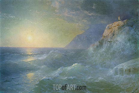 Napoleon on Saint Helena, 1897 | Aivazovsky | Painting Reproduction