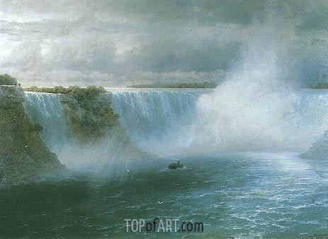 Niagara Falls, 1893 | Aivazovsky | Painting Reproduction