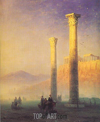 The Acropolis in Athens, 1883 | Aivazovsky | Painting Reproduction