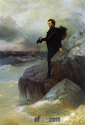 Aivazovsky | Pushkin bids Farewell to the Black Sea, 1887