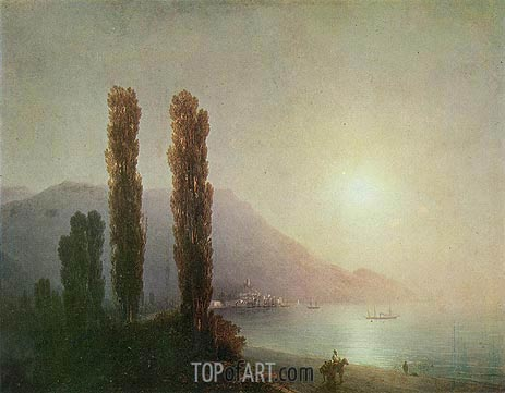 Sunrise in Yalta, 1878 | Aivazovsky | Painting Reproduction