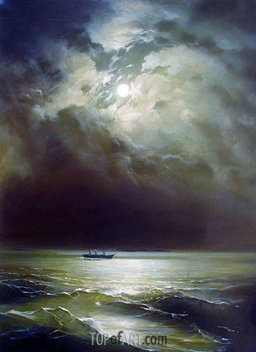 The Black Sea at Night, undated | Aivazovsky | Painting Reproduction