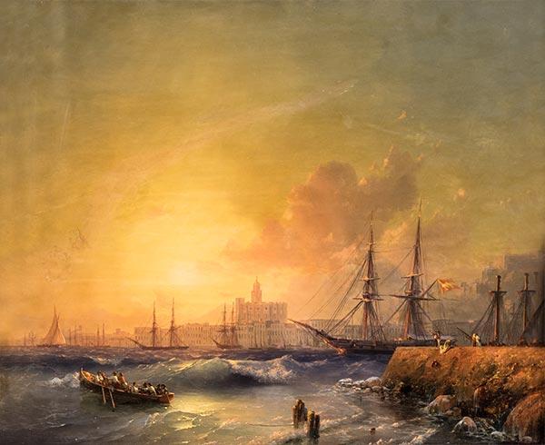 Aivazovsky | Malaga, Seascape, 1854