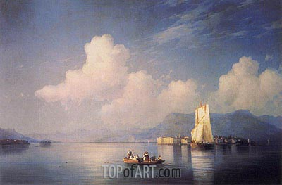 Lake Maggiore in the Evening, 1858 | Aivazovsky| Painting Reproduction