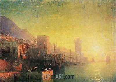 On the Island of Rhodes, 1861 | Aivazovsky| Gemälde Reproduktion