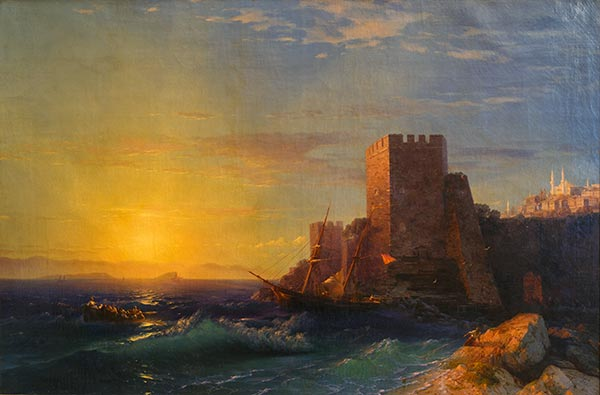 Aivazovsky | Towers on the Coast of the Bosphorus, 1859