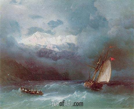 Aivazovsky | Stormy Sea, 1868