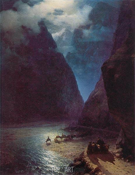 Aivazovsky | Daryal Gorge, 1862