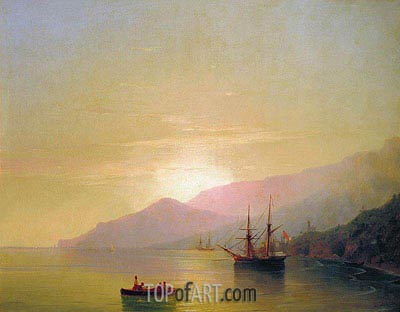 Ships at Anchor, 1851 | Aivazovsky | Painting Reproduction