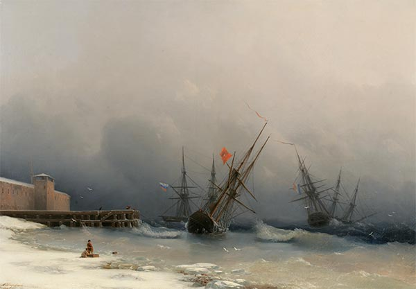 Storm Signal, 1851 | Aivazovsky | Painting Reproduction