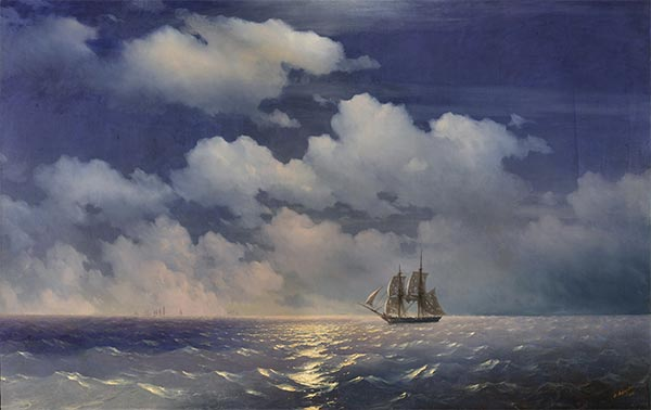 The Brig Mercury Returns to Russian Squadron, 1848 | Aivazovsky| Gemälde Reproduktion