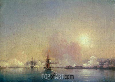 Arrival into Sevastopol Bay, 1852 | Aivazovsky | Painting Reproduction