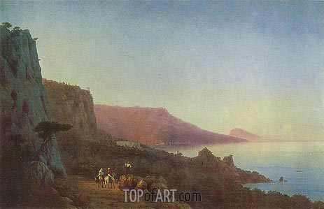 Evening in the Crimea, 1848 | Aivazovsky | Gemälde Reproduktion