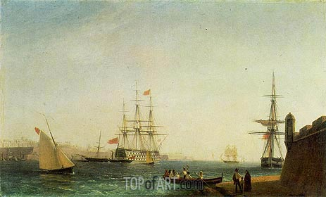 Malta, Valletta Harbour, 1844 | Aivazovsky | Painting Reproduction