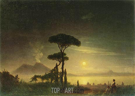 The Bay of Naples, 1845 | Aivazovsky | Painting Reproduction