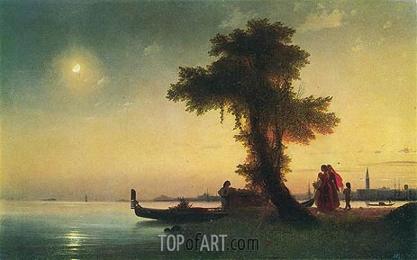 Aivazovsky | View of a Bay near Venice, c.1842