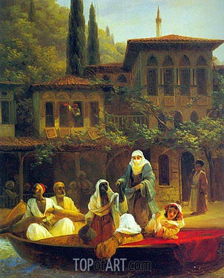 Boat Ride by Kumkapi in Constantinople, 1846 | Aivazovsky| Painting Reproduction