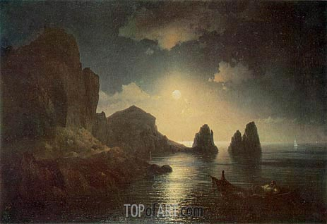 A Sea View, 1841 | Aivazovsky | Painting Reproduction