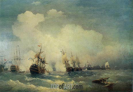 Aivazovsky | The Battle of Revel, 9 May 1790, 1846