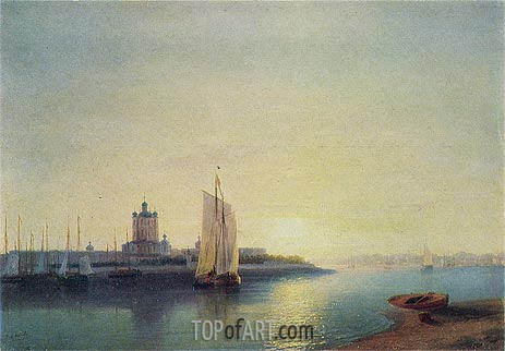 Aivazovsky | St. Petersburg, the Smolny Convent, 1849