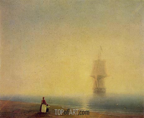 Morning at Sea, 1849 | Aivazovsky | Painting Reproduction