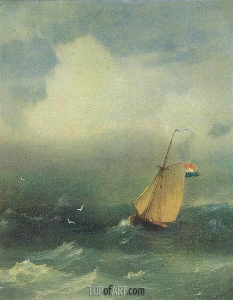 Aivazovsky | Storm at Sea, 1847