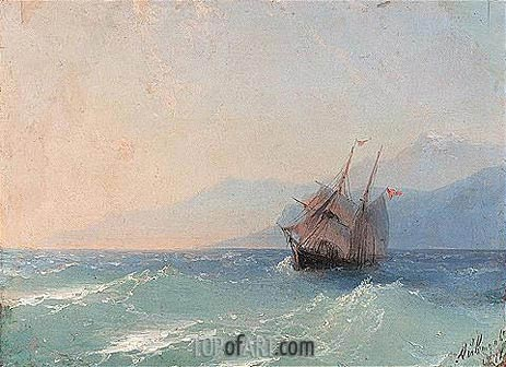 Shipping on the Black Sea, c.1878 | Aivazovsky | Painting Reproduction