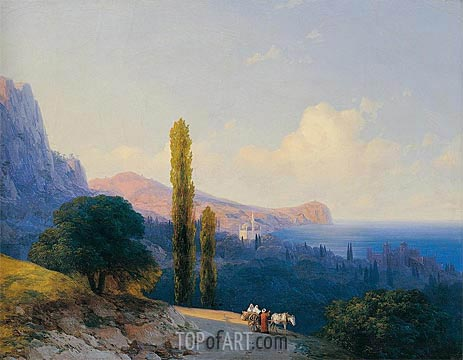 The Coast of the Dardanelles, 1860 | Aivazovsky | Painting Reproduction