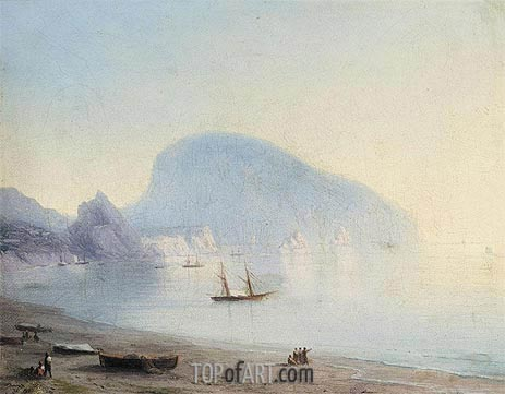 The Ayu-Dag, Indistinct | Aivazovsky | Painting Reproduction