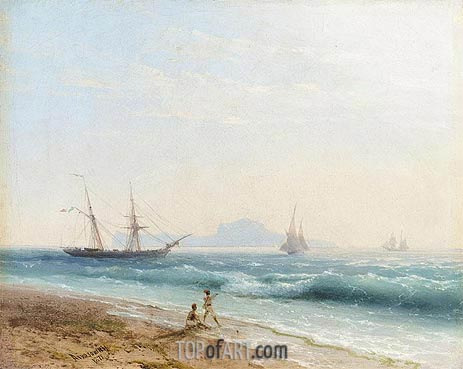 View of Ischia, 1872 | Aivazovsky | Painting Reproduction