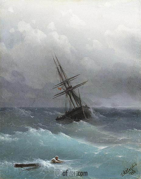 The Storm, 1881 | Aivazovsky | Painting Reproduction