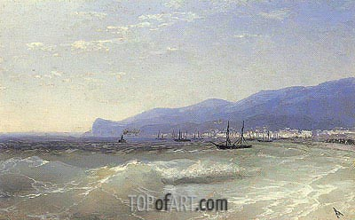 View of Theodosia, 1897 | Aivazovsky | Painting Reproduction