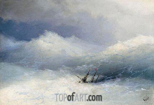 The Shipwreck, Undated | Aivazovsky | Painting Reproduction