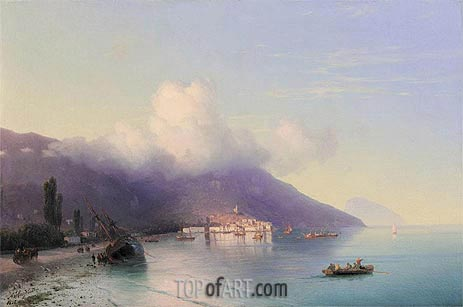 View of Yalta, 1867 | Aivazovsky | Painting Reproduction