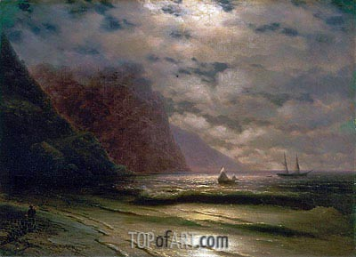 Rocky Seashore, 1876 | Aivazovsky| Painting Reproduction