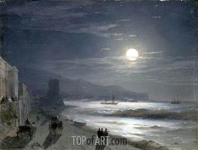 Moon Night, 1885 | Aivazovsky| Painting Reproduction