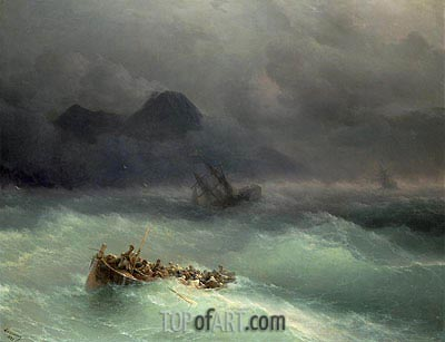 The Shipwreck, 1873 | Aivazovsky| Gemälde Reproduktion