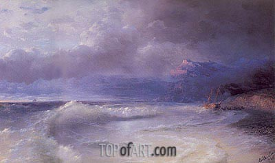Aivazovsky | Shipwreck on a Stormy Morning, 1895