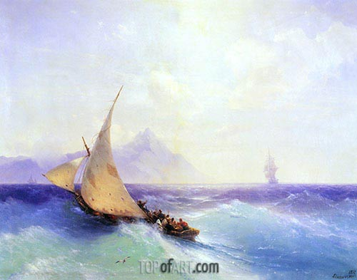 Rescue at Sea, 1872 | Aivazovsky | Painting Reproduction