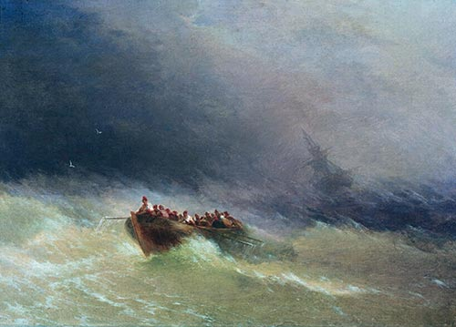 Survivors, 1880 | Aivazovsky | Painting Reproduction