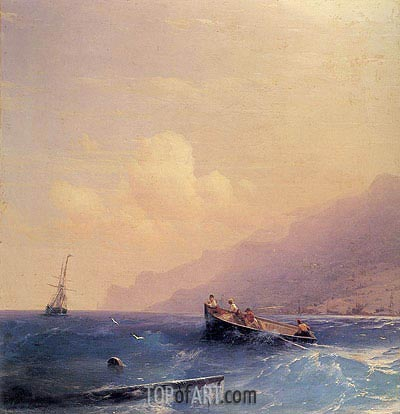 Aivazovsky | Searching for Survivors, 1870