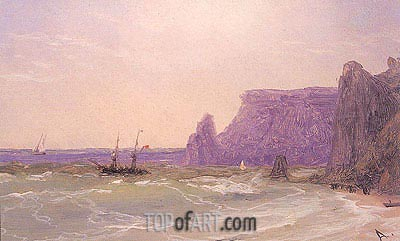 Sea off the Cliffs, undated | Aivazovsky| Painting Reproduction