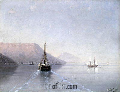 Calm, 1885 | Aivazovsky | Painting Reproduction