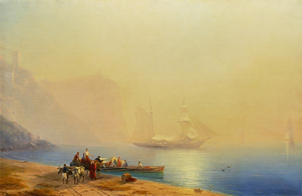 Morning on the Shore of the Sea, Sudak, 1856 | Aivazovsky| Gemälde Reproduktion